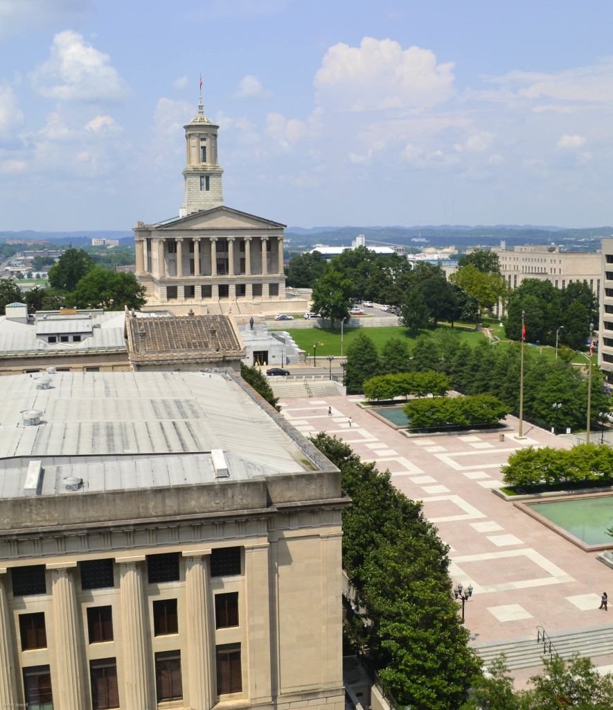 View of the TN state capitol from the 10th floor of the Sheraton hotel.
