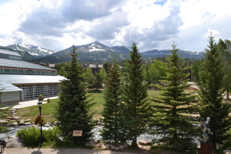 View from the 2nd-floor balcony of Breckenridge's Visitor Center